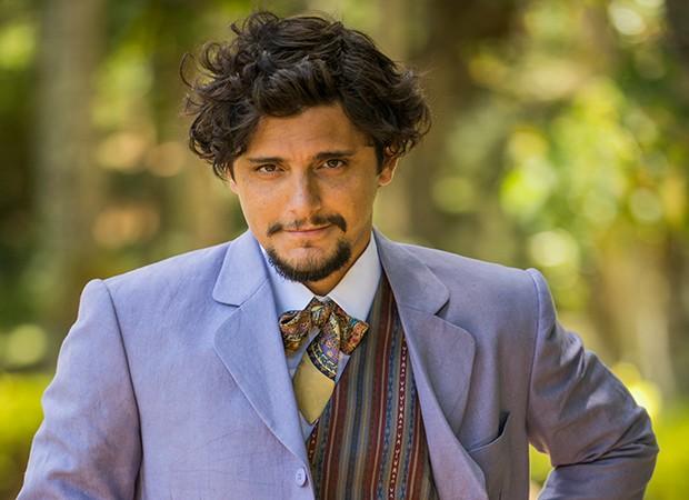 Bruno Gissoni vive o poeta Uirapuru (Foto: Divulgação/TV Globo)