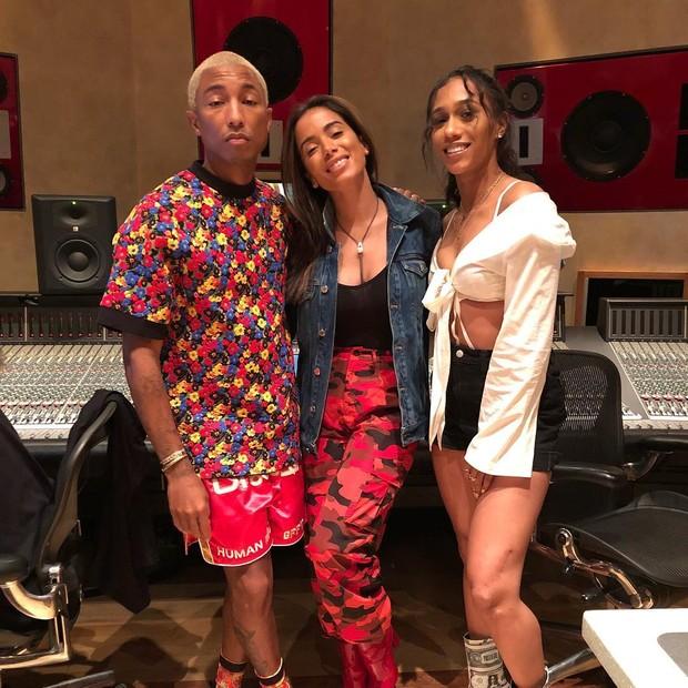 Pharrell, Anitta e Bia (Foto: Reprodução/Instagram)