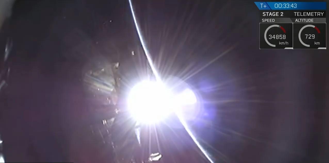 Beresheet se separando do foguete (Foto: Divulgação)