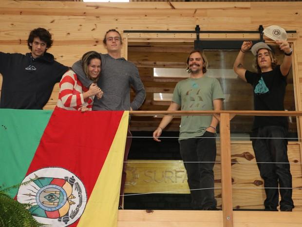 surfari guilherme becker andréia sabino eduardo linhares da silva lucas zuch paulo linhares RS (Foto: Bruno Moraes/G1)