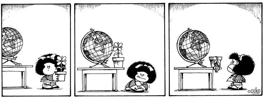Mafalda y el medio ambiente (Foto: Reproducción / Quino)