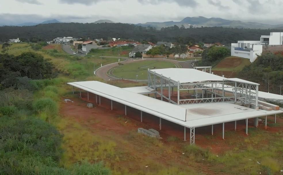 Nova sede da Associação Cultural Casa de Música de Ouro Branco em construção — Foto: Divulgação