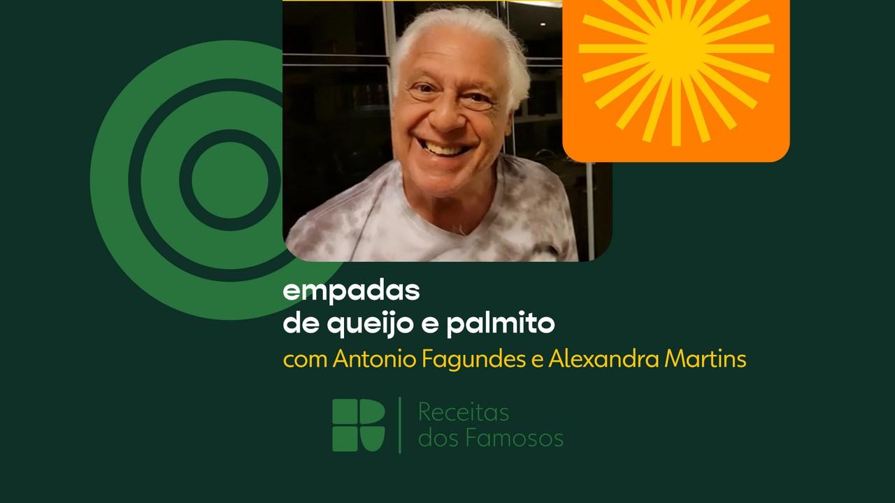 Antonio Fagundes e Alexandra Martins ensinam a fazer empadas de queijo e palmito