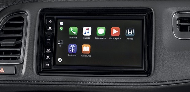 Honda HR-V EXL - Central foi modernizada (Foto: Divulgação)