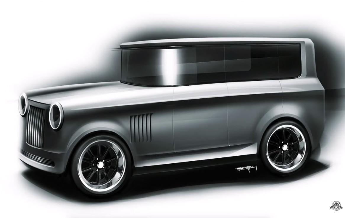 Ford Model T modernizado digitalmente pelo canal TheSketchMonkey (Foto: Reprodução/TheSketchMonkey)