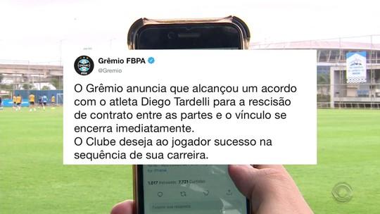 """Grêmio acerta """"valor justo"""" a Diego Tardelli e economiza R$ 24 milhões com adeus de atacante"""