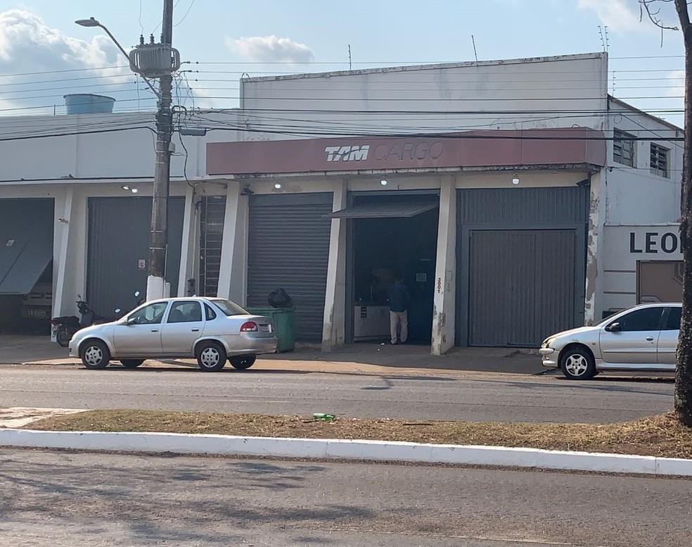 Empresa foi furtada em Porto Velho— Foto: Aléxia Oliveira/Rede Amazônica