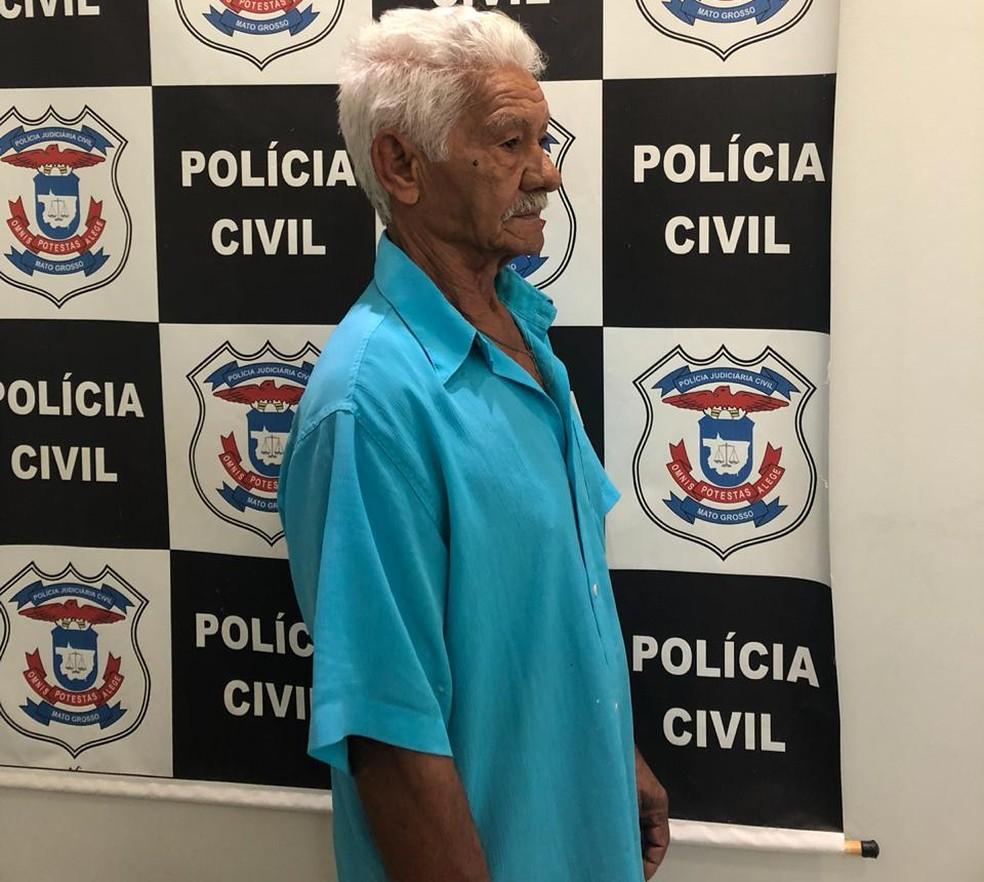 Silvino José dos Santos, de 71 anos, foi preso por estupro de 5 crianças em Várzea Grande — Foto: Polícia Civil de Mato Grosso/Assessoria