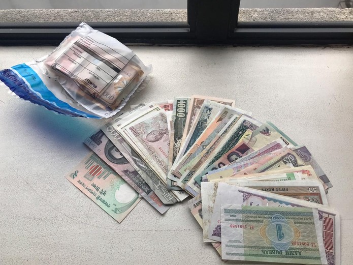 Durante as buscas, os policiais também apreenderam cédulas de dinheiro — Foto: Divulgação/PF