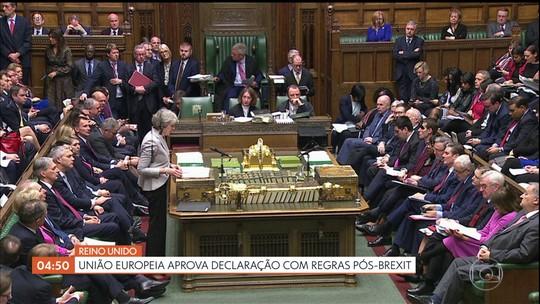 União Europeia aprova declaração com regras pós-Brexit