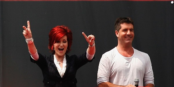 Sharon Osbourne e Simon Cowell (Foto: Getty Images)