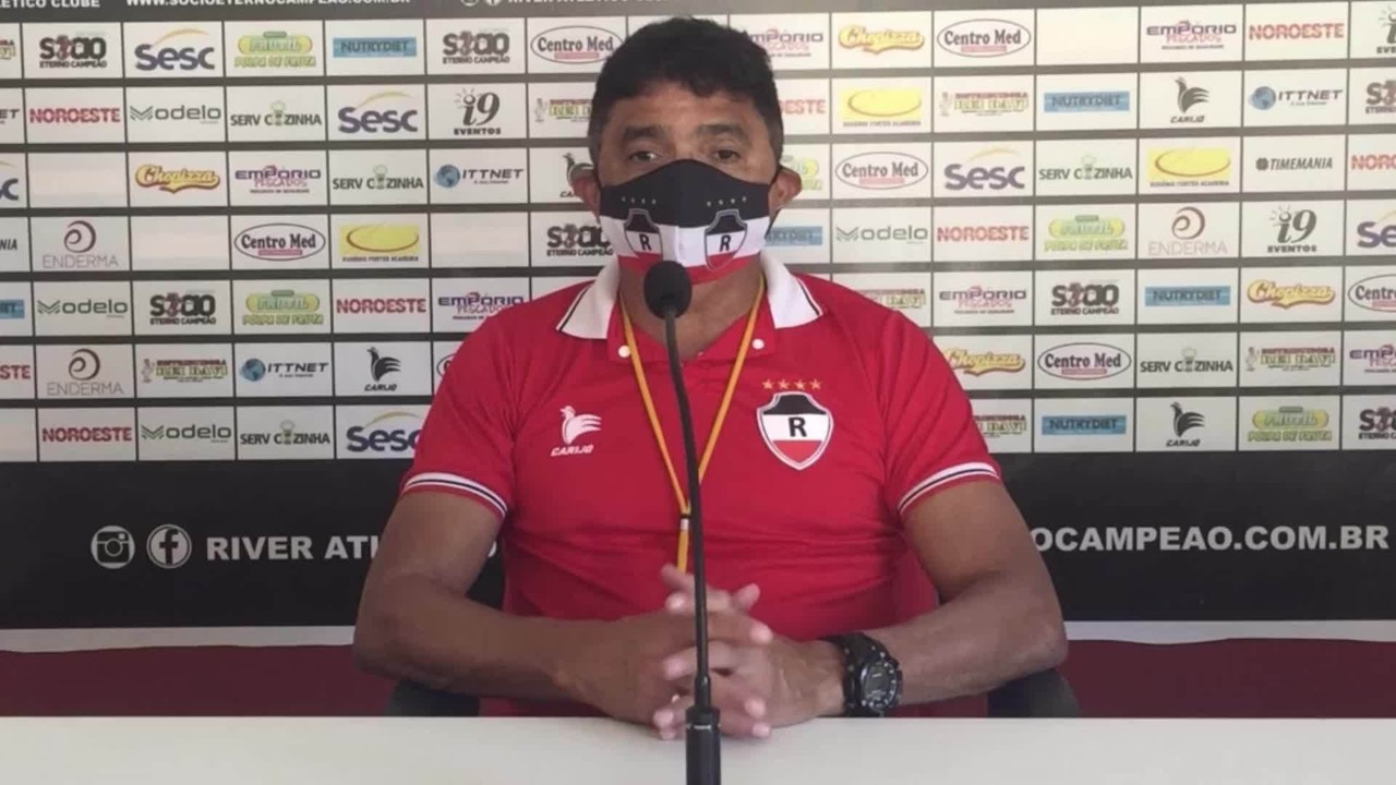 Sob cuidados com a Covid-19, Flávio Araújo avalia primeiros dias de treinos no River-PI