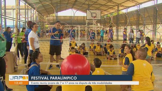 Mais de 150 crianças participaram do Festival Paralímpico, no Amapá