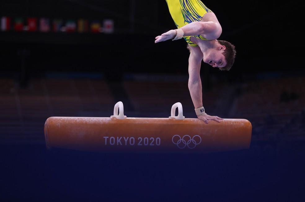 Diogo Soares brasil ginástica artística cavalo tóquio 2020 — Foto: Reuters