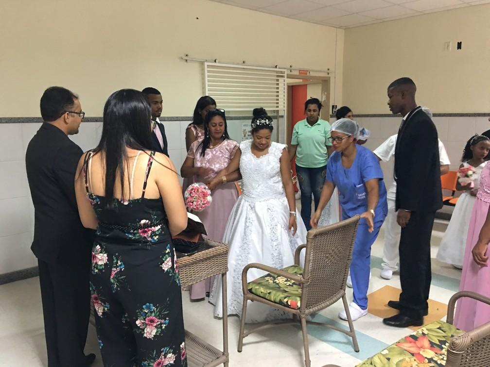 Cerimônia foi realizada na recepção do hospital  — Foto: Correio da Cidade