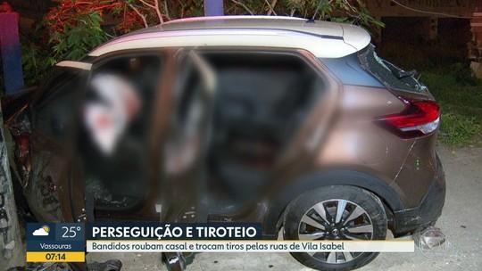 Assalto tem perseguição e tiroteio por ruas de Vila Isabel, na Zona Norte do Rio