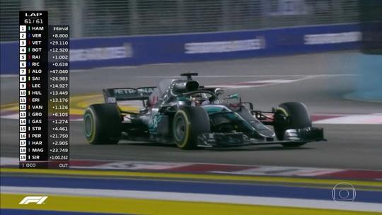 """Chefe da Mercedes exalta vitória em Singapura e elogia Hamilton: """"Brilhante"""""""