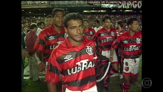 """Romário relembra final """"triste"""", mas prevê título: """"É outra história, vai dar Flamengo"""""""