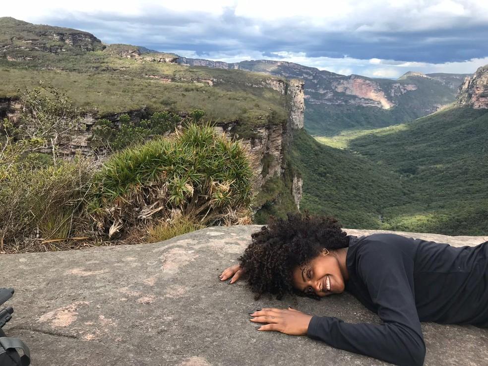 Jenny morava na Chapada Diamantina, Bahia — Foto: Arquivo Pessoal