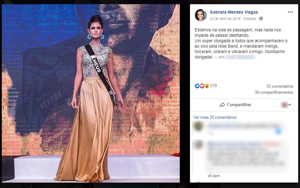 Gabriela Viegas também era estudante de medicina da Ufba, em Salvador — Foto: Reprodução/Facebook