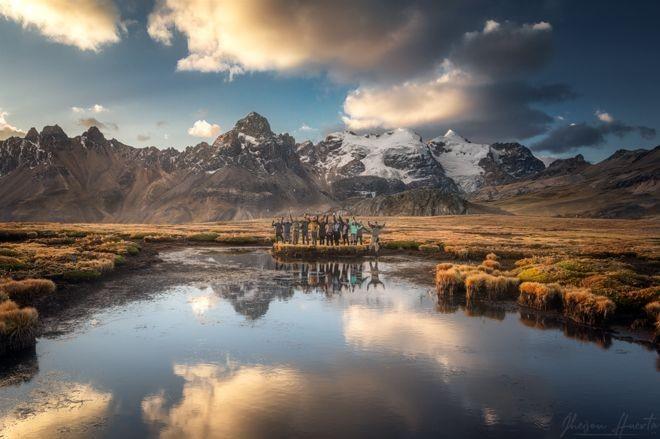 Uma oficina realizada em Huarapasca, no Parque Nacional Huascarán, na região de Ancash, Peru. (Foto:  JHEISON HUERTA via BBC)