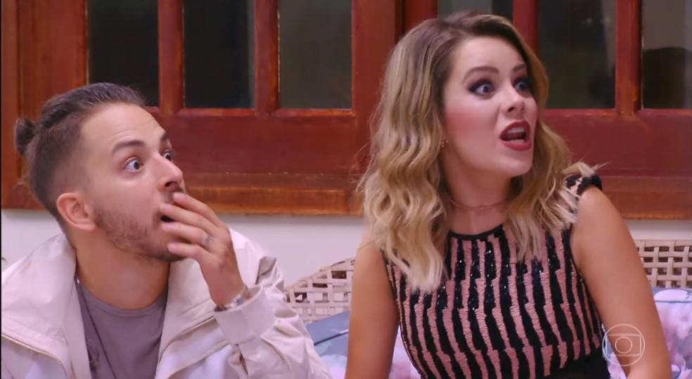 A dupla se se surpreendeu ao reencontrar alguns amigos de infância — Foto: TV Globo