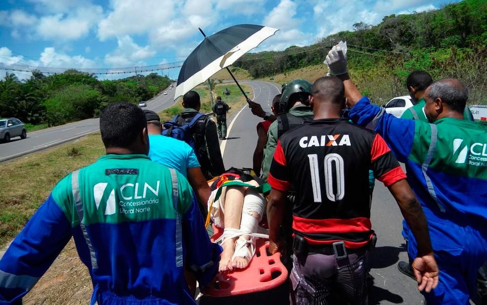 Concessionária que administra rodovia prestou primeiros socorrros (Foto: Divulgação / SSP)