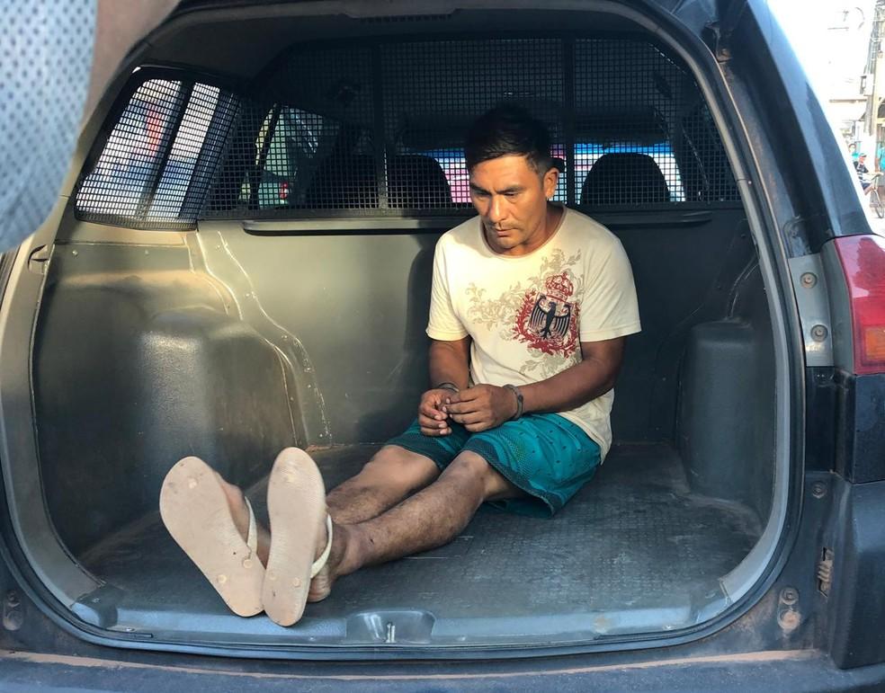 Ailton Vieira Rodrigues, 34 anos, preso por suspeita de estupro de vulnerável — Foto: Reprodução/Redes Sociais