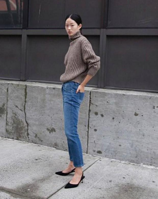 Kitten heels e jeans: combinação ganhadora (Foto: Reprodução)