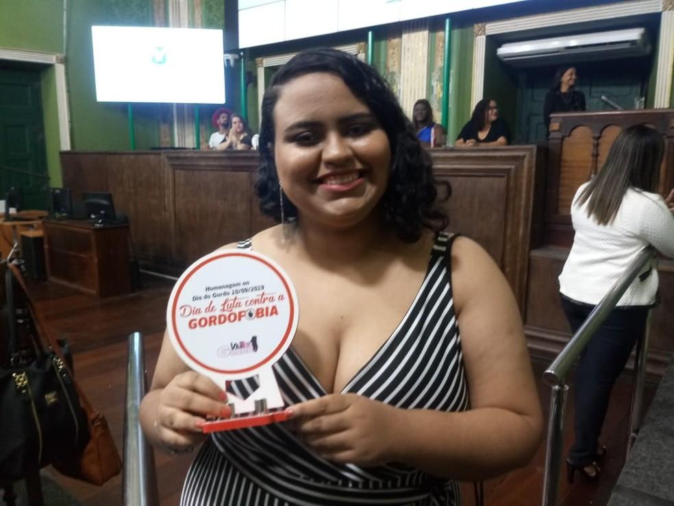 Blogueira Vivian Vieira foi uma das homenageadas — Foto: Thiago Conceição/Divulgação