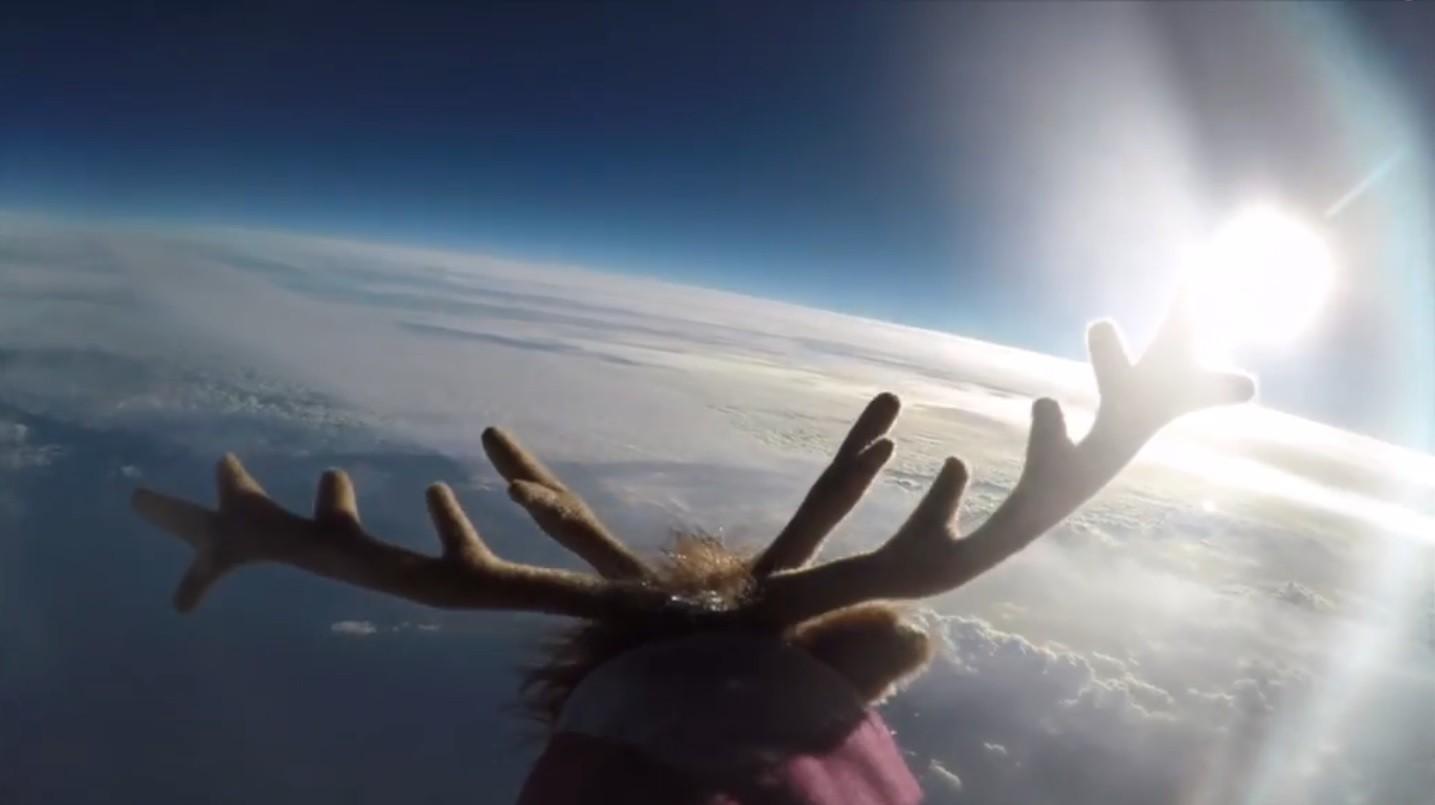 Rena de pelúcia no espaço (Foto: Reprodução)