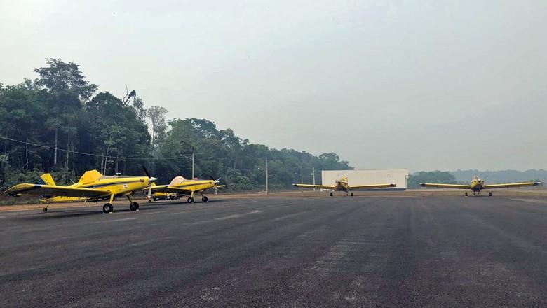 amazonia-aviao-agricola-incendio (Foto: Divulgação/Sindag)