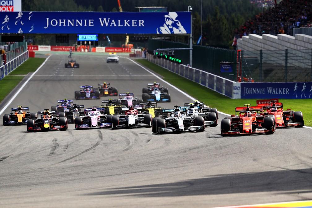 Largada do GP da Bélgica, em Spa-Francorchamps — Foto: Getty Images