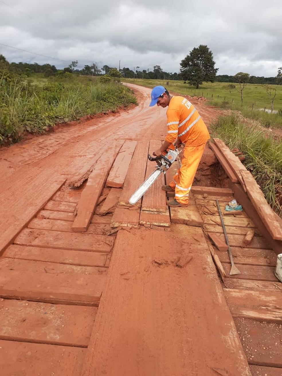 Pontes também estão em situações precárias — Foto: Dnit/Assessoria