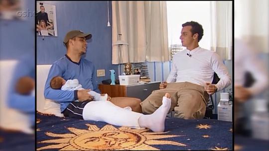 'Caldeirão': relembre a entrevista de Huck com Ronaldo Fenômeno em Milão antes da Copa de 2002