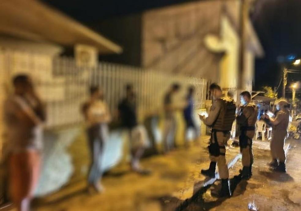 PM encerra chá de bebê em Chapecó, no Oeste catarinense — Foto: Polícia Militar/Divulgação
