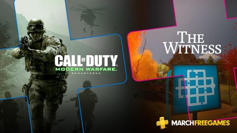 Call of Duty: Modern Warfare Remastered e The Witness são games grátis da PS Plus para o PlayStation 4 em março — Foto: Reprodução/PlayStation Blog