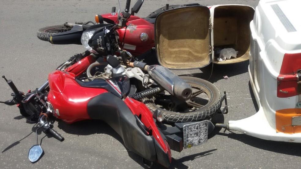Acidentes de moto são responsáveis por 86% das indenizações do seguro do DPVAT em 2018 (Foto: Thiago Souza Medeiros/arquivo pessoal)