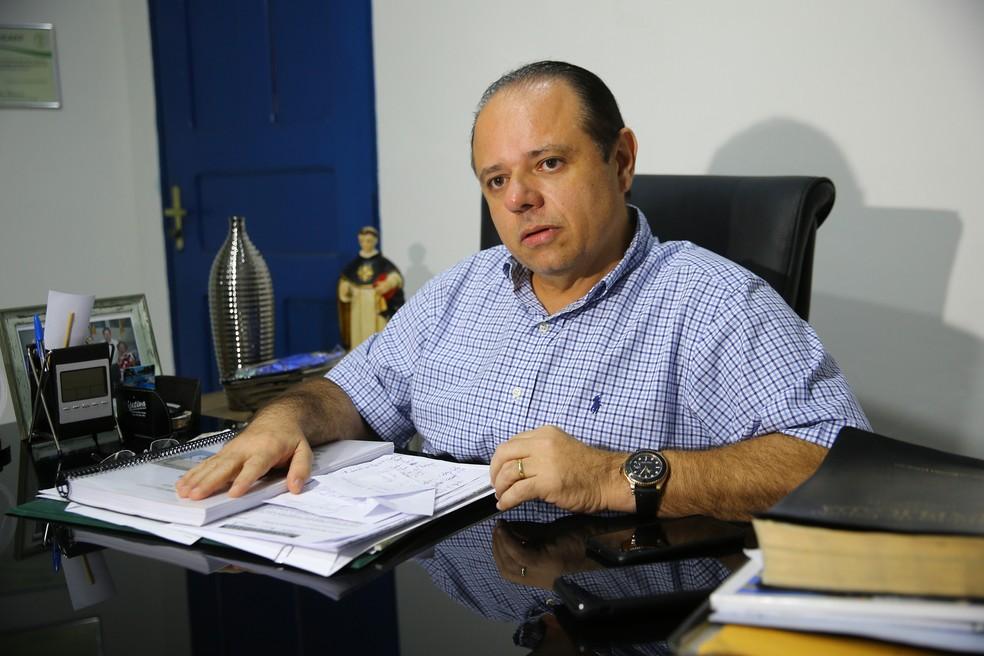 Cláudio Pinho, prefeito de São Gonçalo do Amarante — Foto: Fabiane de Paula/SVM