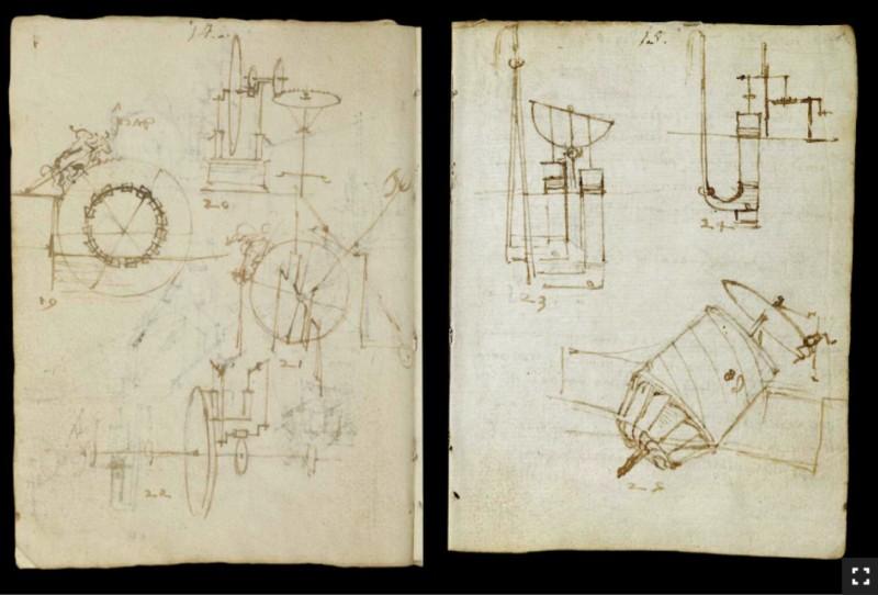 Manuscritos de da Vinci digitalizados são na 'escrita-espelho' (Foto: Reprodução/Victoria and Albert Museum)