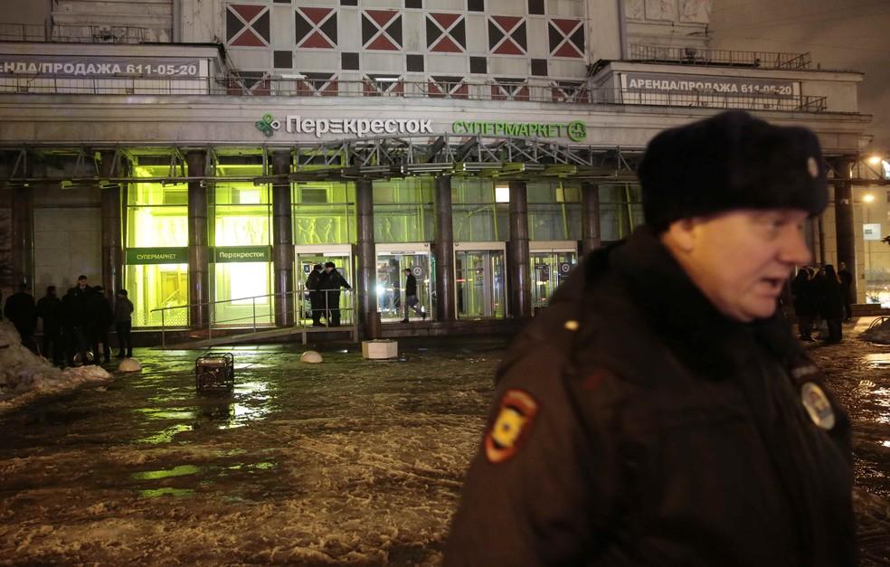 Segurança russa deteve suspeito de atentado em supermercado de São Petersburgo