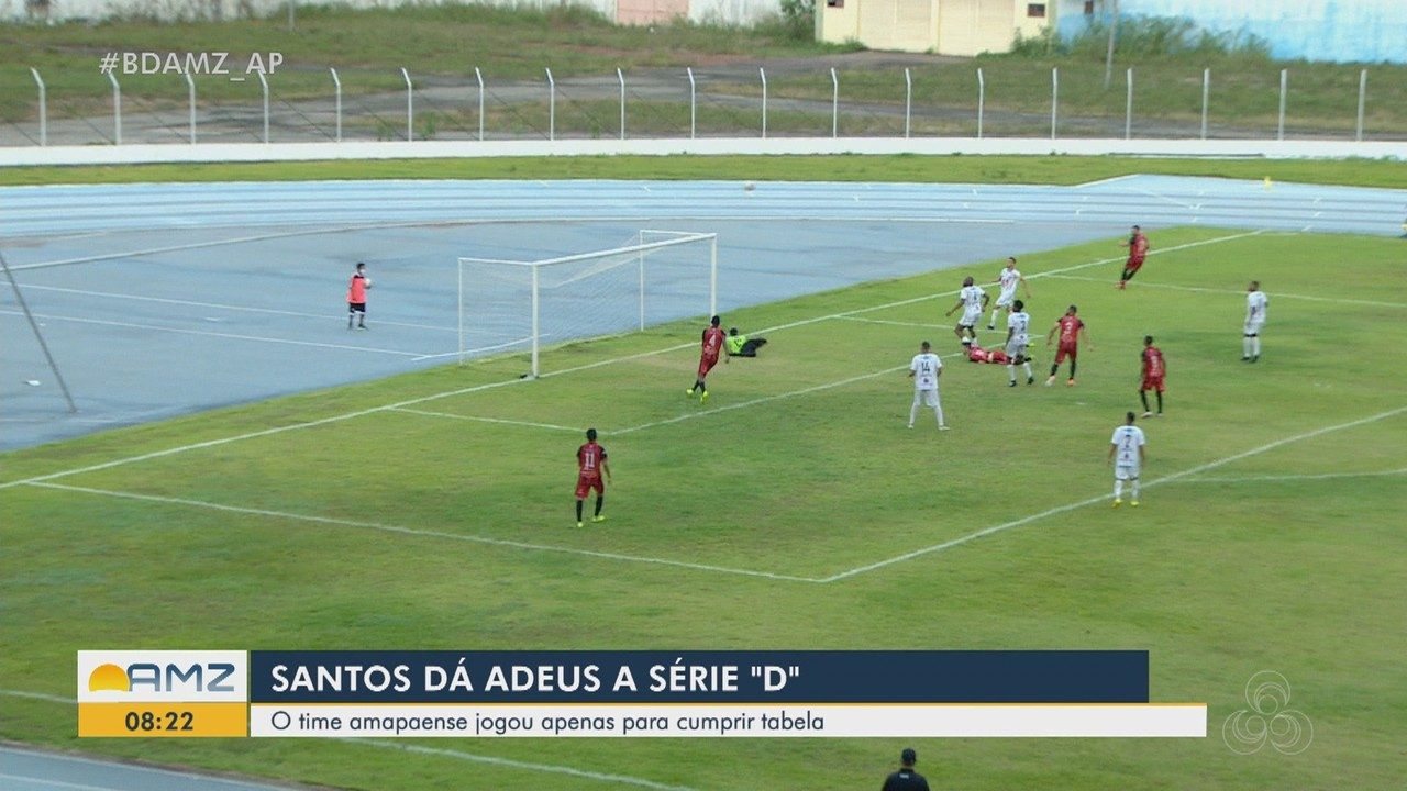 Santos do AP se despede da Série D do Campeonato Brasileiro com derrota