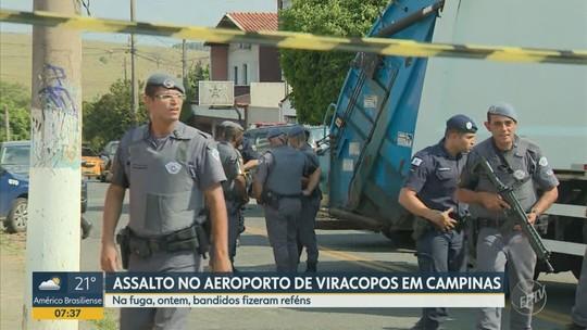 Bandidos fazem mulher e bebê reféns durante fuga do assalto no Aeroporto de Viracopos b