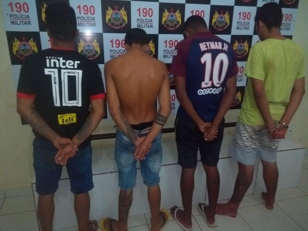Presos foram levados para Delegacia de Flagrantes de Rio Branco — Foto: Divulgação/Polícia Militar do Acre