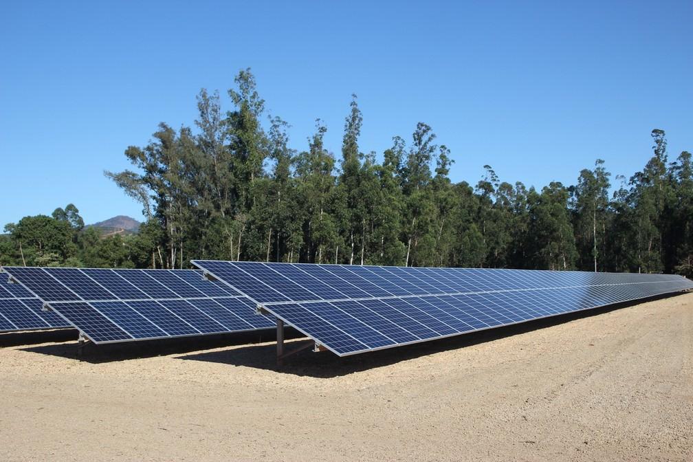 Nova usina de geração de energia solar é inaugurada em Santa Rita do Sapucaí (Foto: Luciano Ferraz/Portal da Cidade)