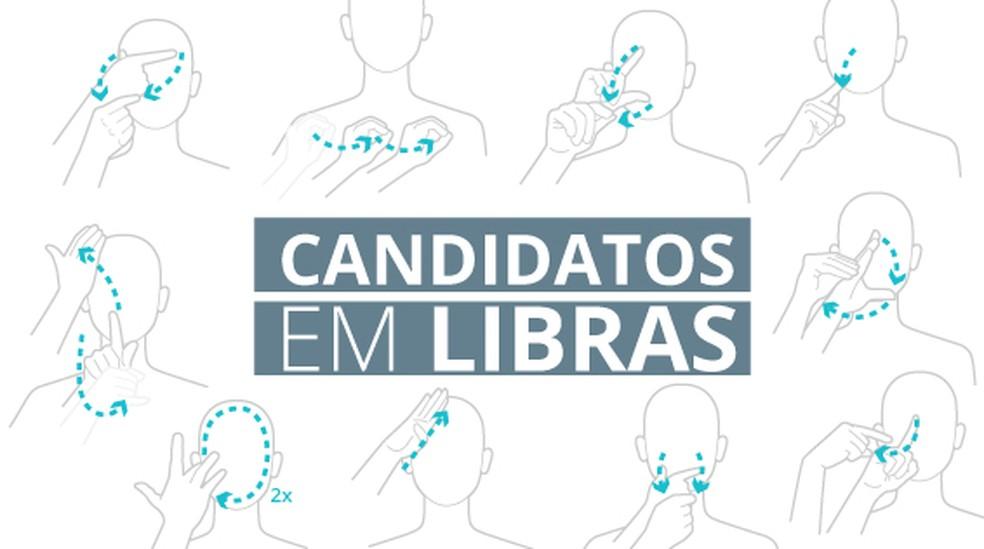 Selo candidatos libras versão VALE — Foto: Infografia: Juliane Souza/Editoria de Arte G1