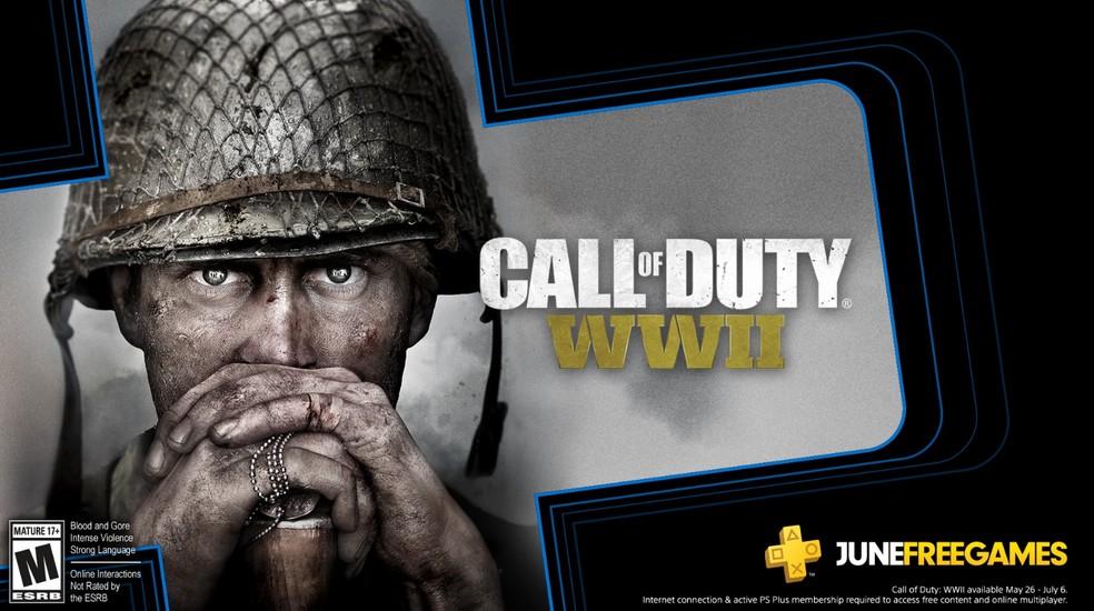 Call of Duty WW2 estará de graça aos assinantes da PS Plus a partir de 26 de maio. — Foto: Divulgação/PlayStation