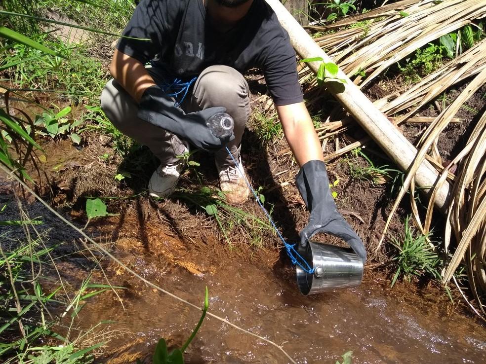 Coletas foram realizadas entre 25 de fevereiro e 8 de março e constataram 14 substâncias químicas em afluentes do rio Pará. (Foto: Ascom IEC)