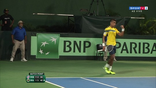 Os pontos finais de Roberto Cid Subervi (DOM) 1 x 2 Thiago Monteiro (BRA) pela Copa Davis