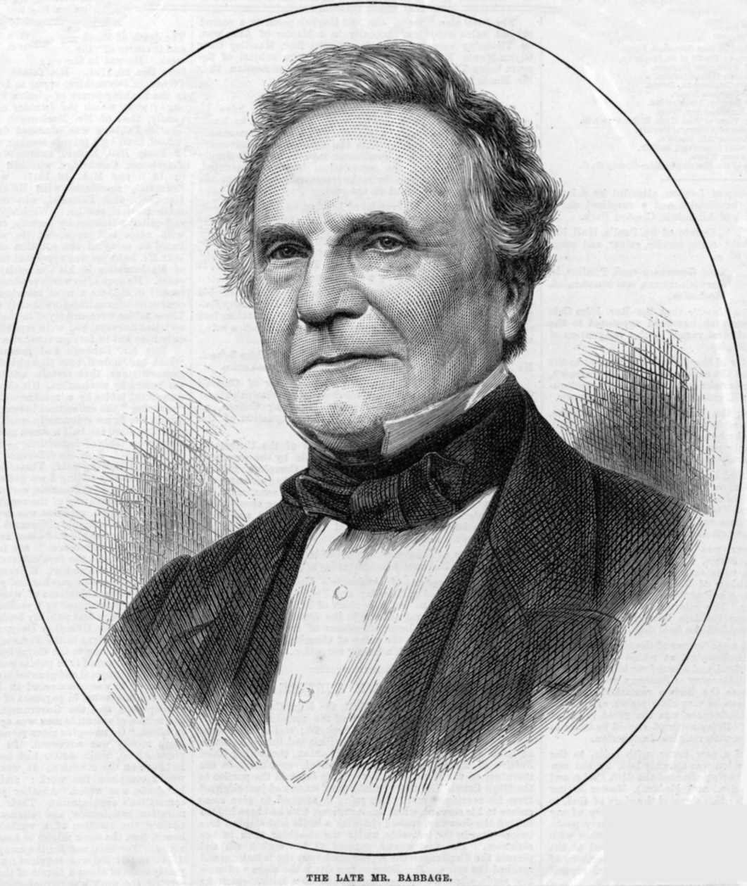 Ilustração de Charles Babbage em jornal inglês de 1871 (Foto: Wikimedia/Unknown staff artist for The Illustrated London News)